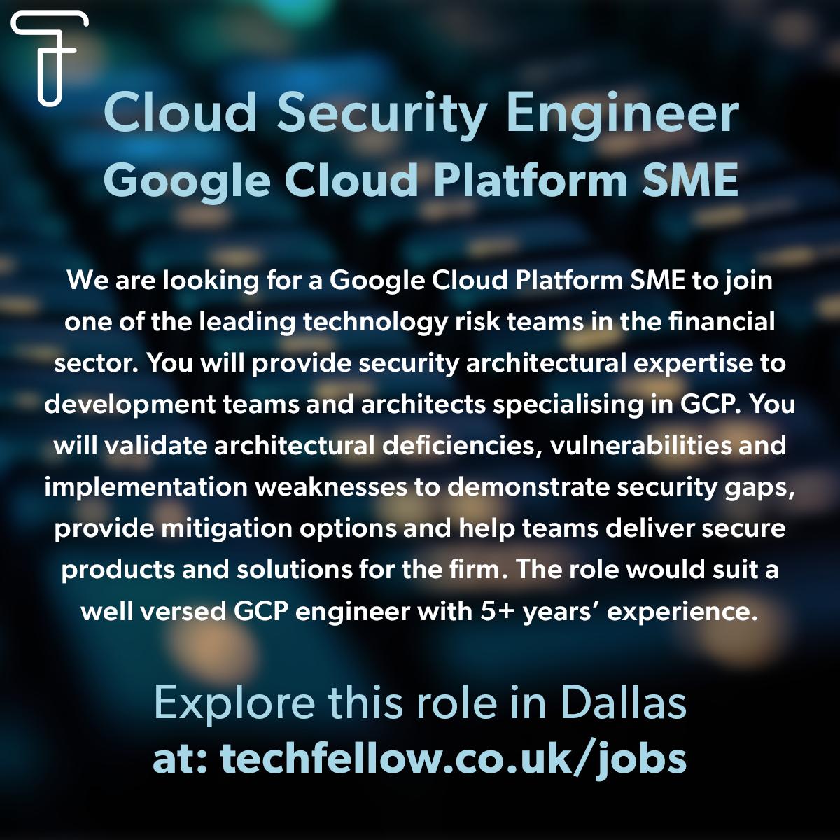 Cloud Security GCP SME